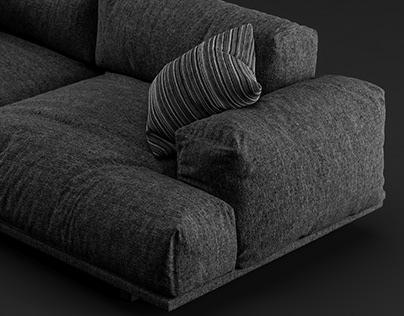3D Model of Muuto Compose Sofa