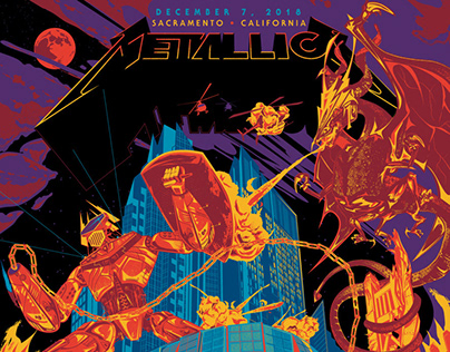 Metallica - Limited Ed. VIP Poster - Sacramento 2018