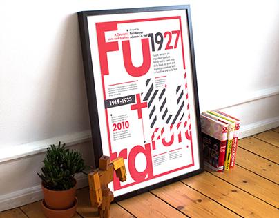 Futura Typography Poster Design