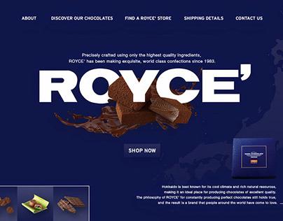 ROYCE Chocolate UI