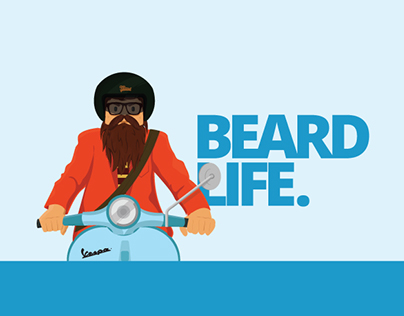 beard life sticker illustration