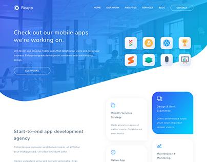 Beapp - Mobile App Development Agency HTML5 Template