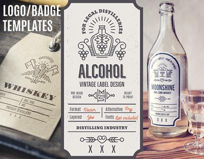 Distilling Industry - Vintage Label Design