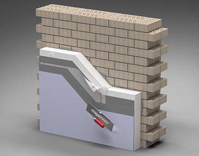 3D Styrofoam insulation model