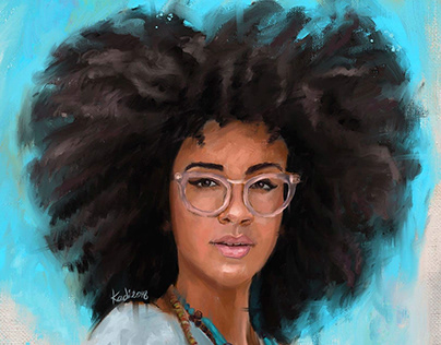 Portrait of Afro Hair Style and Blogger Alanna Doherty