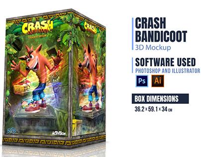Crash Bandicoot 3D Box Mockup