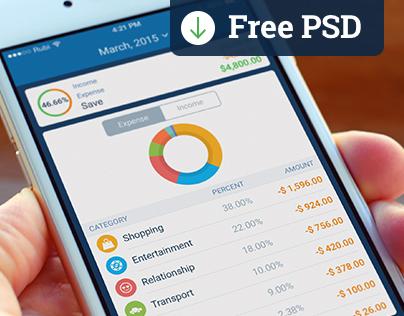 Best Savings App - Free PSD Download