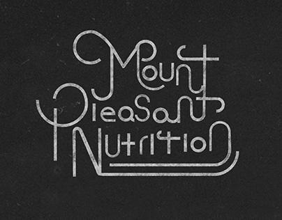 Mount Pleasant Nutrition Typography