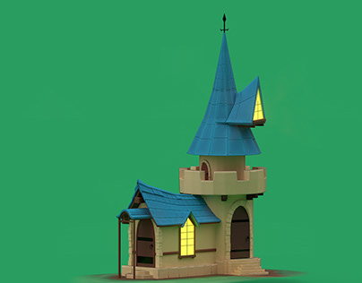 Stylized medieval house
