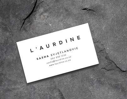 L'Aurdine Logo and Stationary