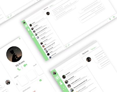 WhatsApp (web) redesign