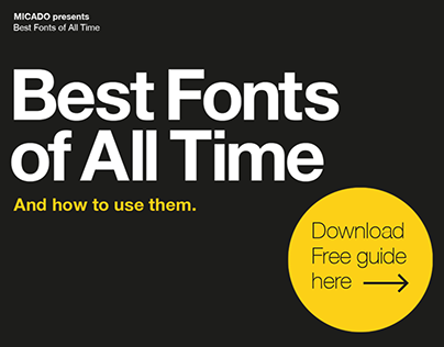 Best Fonts of All Time