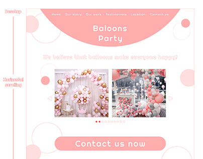 Baloons Party store landing