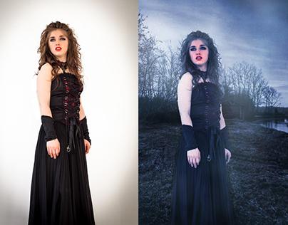 Photo-montage: Shooting de la chanteuse Anissa Bélanger