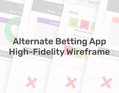 Betting App Like Tinder High-Fidelity Wireframe