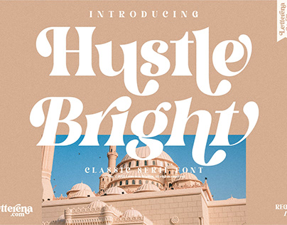 Hustle Bright - Luxury Serif Font