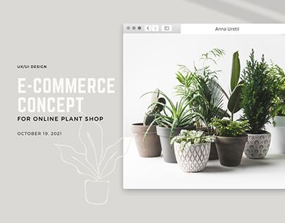 E-commerce online plant shop