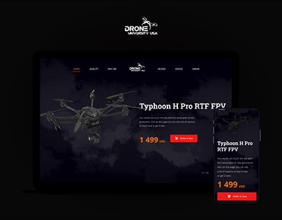 Drones - landing page design