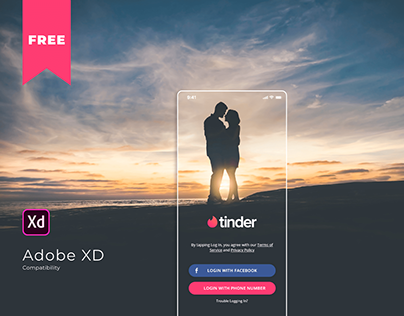 Tinder Redesign - Dark UI
