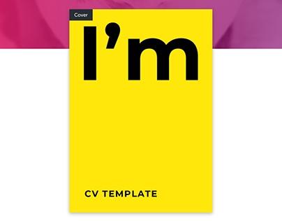 I'm, Resume CV Template