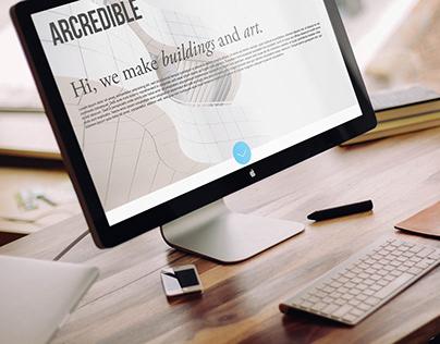 ARCREDIBLE / website mockup