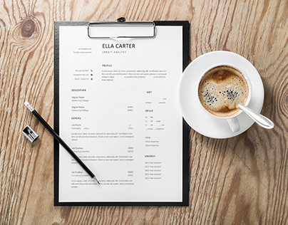 Free Credit Analyst Resume Template with Simple Look