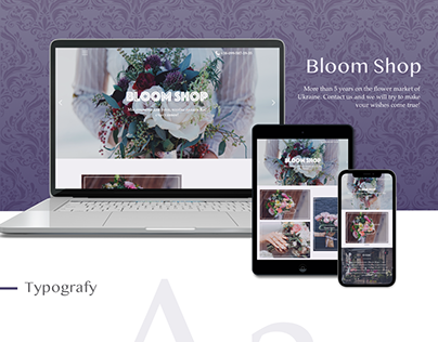 "Landing Page for ""Bloom Shop"""