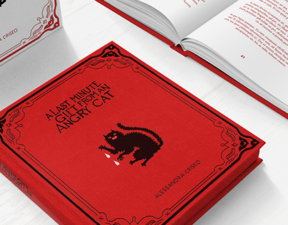 ANGRY CAT - book design