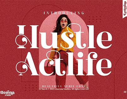 Hustle Actlife - Beautiful Serif Font