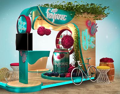 Fayrouz Booth 2017 (Egypt) Blueberry Flavor