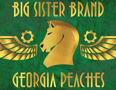 Big Sister Brand Fruit Label Design