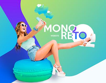 Monoreto social network - Website
