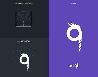 Uniqh / Golden Ratio Logo Design