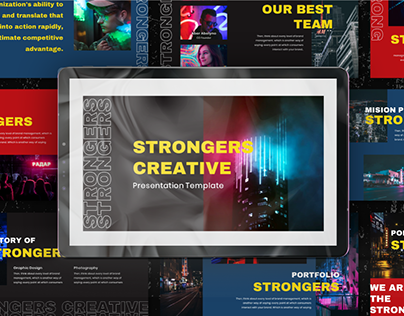 Strongers Creative Presentation Template