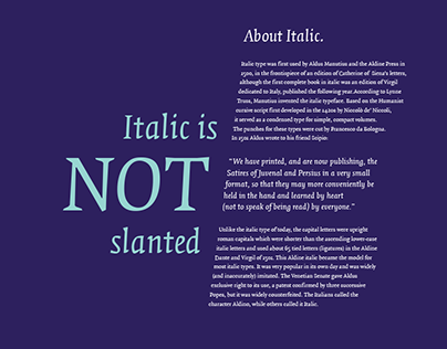 Italic Is Not Slanted