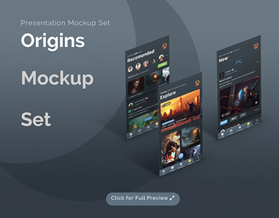 Origins - Presentation Display Mockups PSD