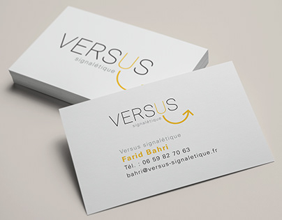 versus signalétique # stationery