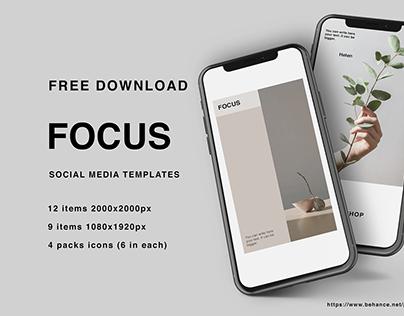 SOCIAL MEDIA TEMPLATES| FREE DOWNLOAD| FOCUS