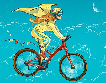 "Book cover illustration for Barbara Sher's ""Wishkraft"""