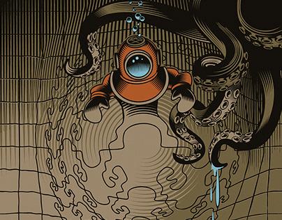 M. C. Escher inspired illustrations