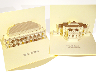3D Popup Kirigami of A. Palladio's Monuments and Villas