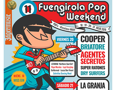 FUENGIROLA POP WEEKEND - Cartel y aplicaciones para web