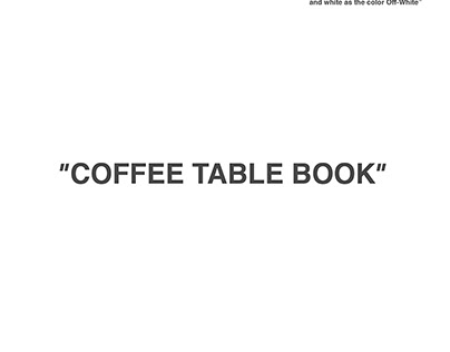 OFF WHITE COFFEE TABLE BOOK
