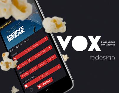 VOX Cinemas - Application Redesign