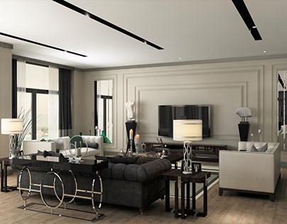 B&W Livingroom