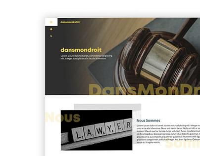 DANSMONDROIT - website layout