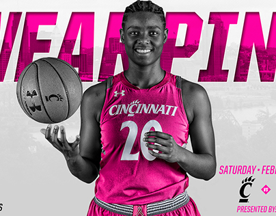2017-18 Bearcats Women's Basketball - Wear Pink Game