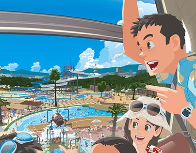Pool water park poster 2014〜2018