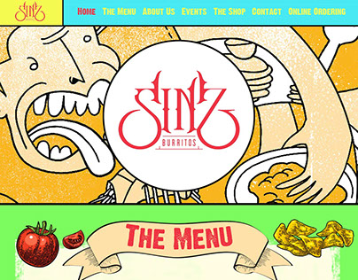 Sinz website mockup