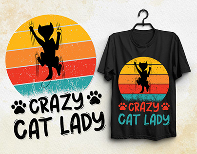 Crazy Cat Lady T-Shirt Design